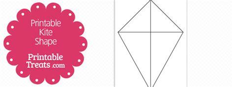 printable kite shape template printable treatscom