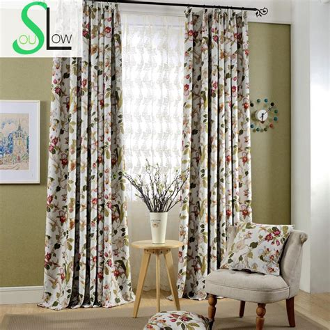 luxury floral printed curtains europe style blackout