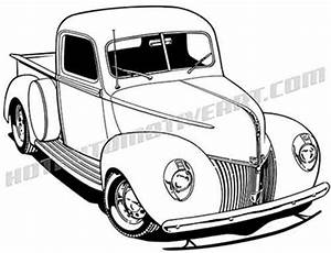 clipart vector of 1941 ford pick up vector graphic With 1941 ford coupe red