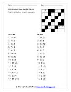 Cross Number Puzzles Worksheets