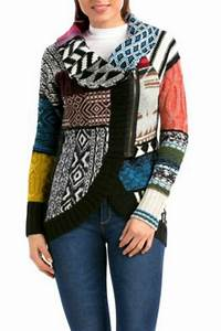 DESIGUAL Diana Patchwork Sweater from Hawaii by Hurricane