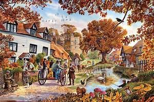 Village In Autumn Photograph by Steve Crisp