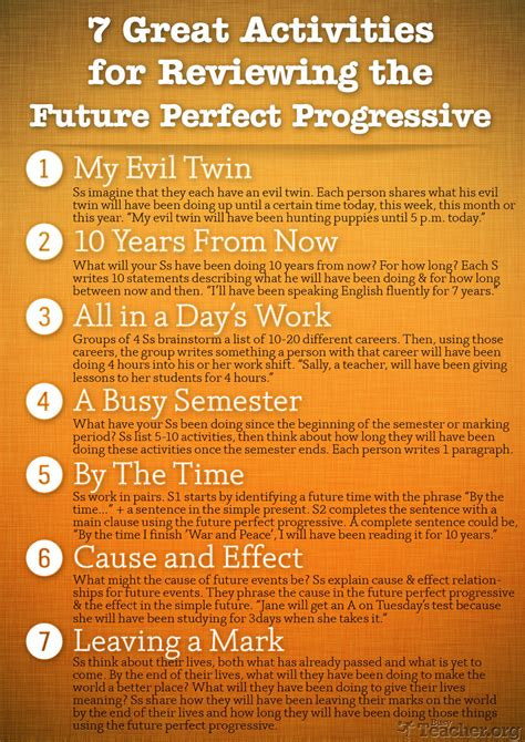 7 Great Activities To Review The Future Perfect