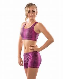 Spandex Sports Bra (Pink Snakeskin)