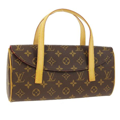 sold price authentic louis vuitton sonatine monogram canvas leather hand bag september