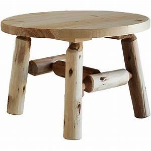 cedar log 27quot round coffee table walmartcom With round log coffee table