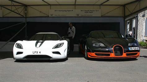 Bugatti Veyron Vs by Bugatti Veyron Ss Vs Koenigsegg Agera R