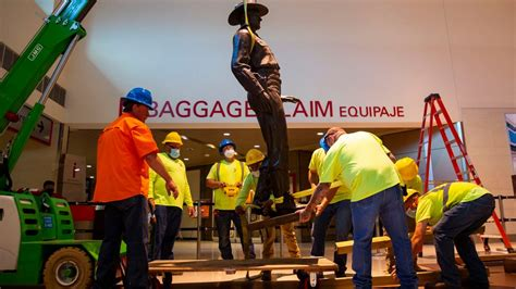 Texas Ranger Statue at Love Field Removed Over Concerns ...