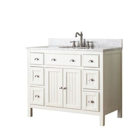 42 Inch Bathroom Vanity Without Top by Hamilton White 42 Inch Vanity Combo With White