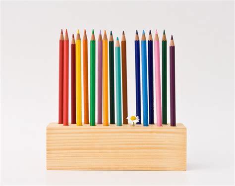 Desk Pencil Holder by Pencil Holder Wood Desk Organizer Pen Holder By Lessandmore