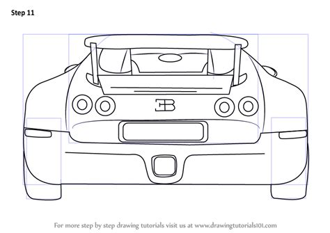 Bugatti veyron pencil drawing google search with images. Step by Step How to Draw a Bugatti Veyron Rear : DrawingTutorials101.com