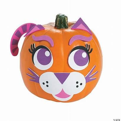 Pumpkin Decorating Cat Purple Craft Kit Halloween