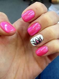 Shellac, nail design, nail art, nail ideas, gellac, pink ...