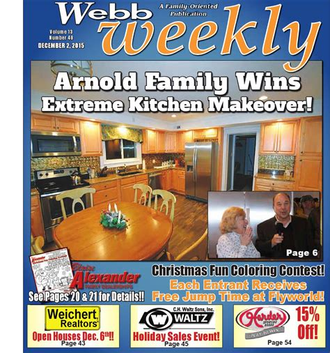 free kitchen makeover contest webb weekly december 2 2015 by webb weekly issuu 3562