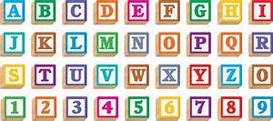 letter blocks formal letter template With kids block letters