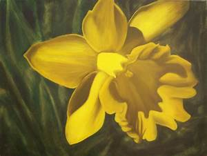 Daffodil Painting - finished by capgar on deviantART