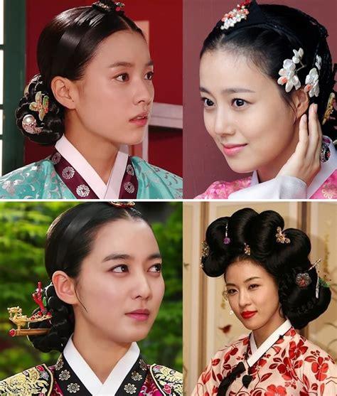 traditional hairstyles worn  hanbok  korean