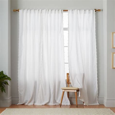 batik pom pom curtain west elm