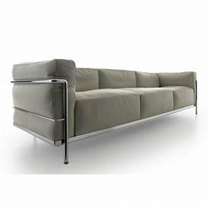 fauteuil lc3 le corbusier canape lc3 le corbusier canape With le corbusier lc3 canapé 3 places