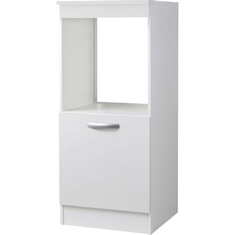 ikea meuble cuisine four encastrable meuble de cuisine 1 2 colonne 1 porte blanc h140 4x l60x