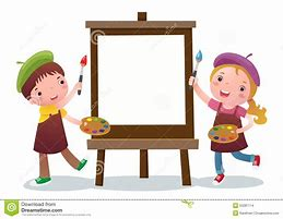 Image result for children painting animated
