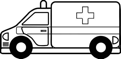 fine ambulance car coloring page wecoloringpagecom
