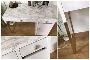 Ikea Schreibtisch Hack : schreibtisch desk micke ikea hack marble marmor mit gold ~ Watch28wear.com Haus und Dekorationen
