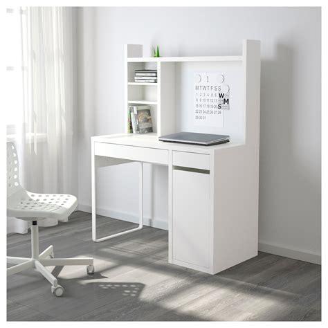 corner computer desk micke workstation white 105x50 cm ikea