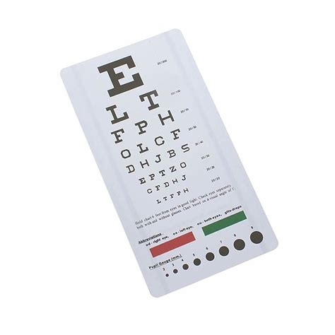 Snellen Eye Chart Wall Chart For Visual Acuity With Red