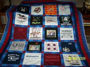 You have to see Dad's T-Shirt Quilt by Damsel!