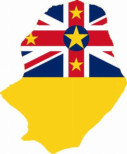 Niue Flag Map Island Svg Maps Depositphotos