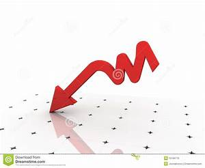 Graph Showing Decrease In Profits Or Earnings Stock Photo