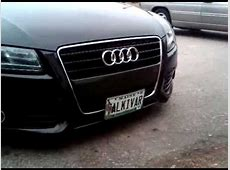 Audi A5 with Motorized front plate YouTube