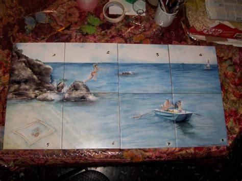 piastrelle dipinte a mano pannello di piastrelle dipinte a mano