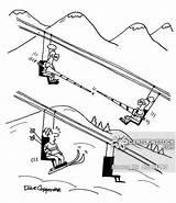 Ski Lift Resort Cartoons Cartoon Drawing Skiing Comics Funny Lodge Template Sketch Getdrawings Illustration Cartoonstock Coloring Jouster Pages Tourism sketch template