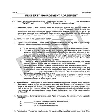 property management agreement create