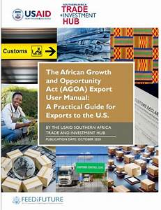 The African Growth And Opportunity Act  Agoa  Export User