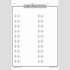 Free Adding Fraction Worksheets With Unlike Denominators Worksheets