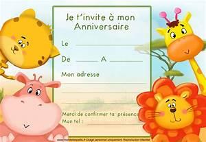 Carte Anniversaire Pour Enfant : carton invitation anniversaire gratuit invitation anniversaire ~ Melissatoandfro.com Idées de Décoration