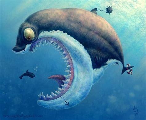shark artwork sharky picture  cartoon giant shark