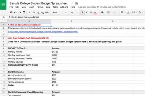 budgeting basics  college students