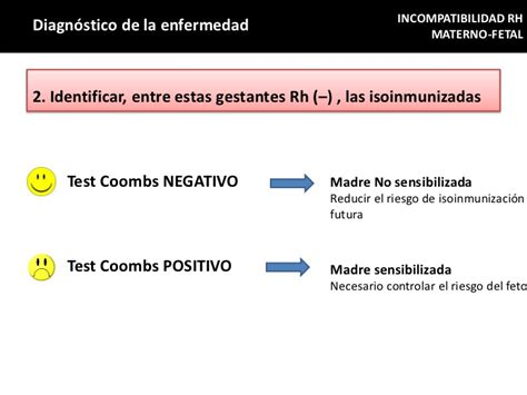 test coombs negativo incompatibilidad rh materno fetal