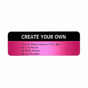 Create your own 30 simple return address label custom for How to print your own shipping labels