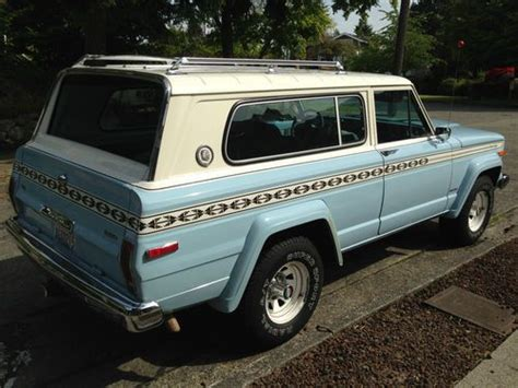 jeep cherokee chief blue purchase used 1979 jeep cherokee s wide track quadra drive