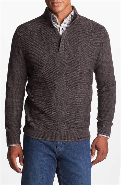mens half zip sweater bahama marina bay pima cotton half zip sweater in