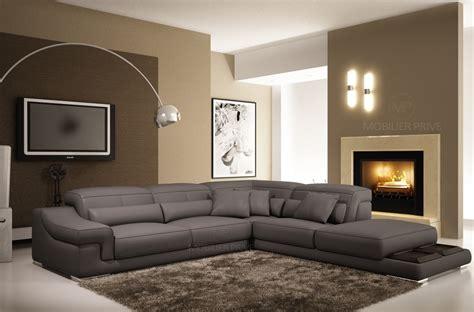 canap en cuir gris canap mobilier privé