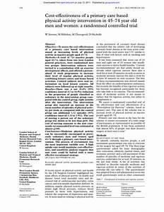 (PDF) Cost-effectiveness of a primary care based physical ...