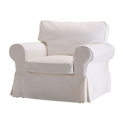white slipcovered chair ektorp chair cover blekinge white ikea