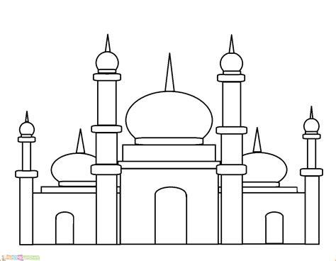 masjid hitam putih