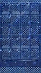 App Grid Blueprint Homescreen iPhone 5 Wallpaper / iPod ...